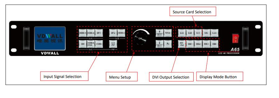 Vdwall a65 front panel
