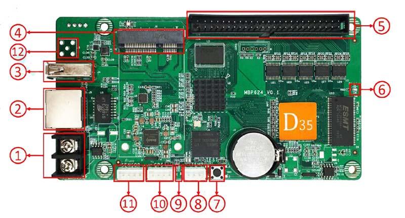 HD D35 interface